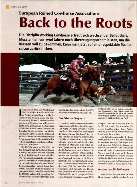 Bericht über die wachsende Cowhorse Szene in Deutschland und die anspruchsvolle Qualität der Ritte
